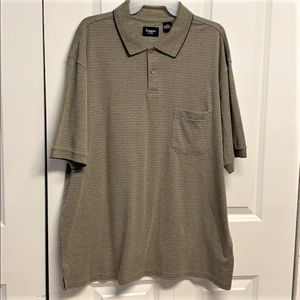 Haggar Polo Shirt Size L Block Print